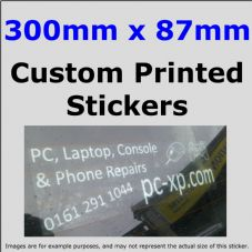 87mm x 300mm Custom Printed Advertising,Fun Stickers-Windows,Bumper-Car,Taxi,Van,Business,Website